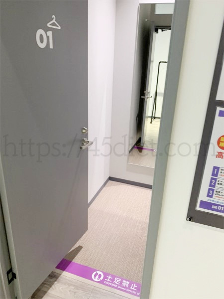 エニタイムフィットネス木津川梅美台店の更衣室